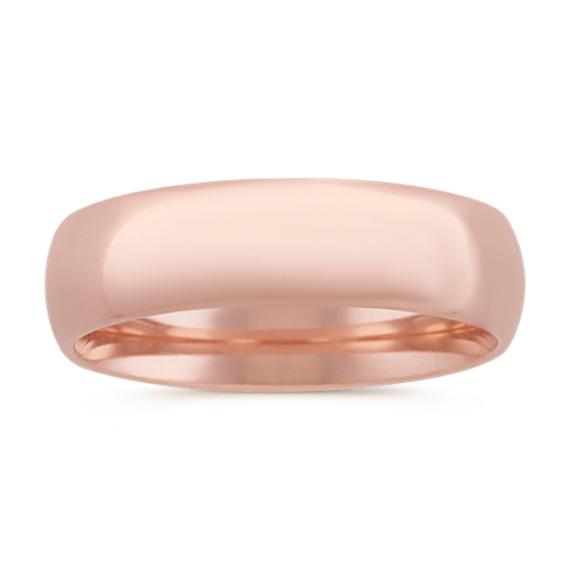 14k Rose Gold Comfort Fit Ring (6mm)