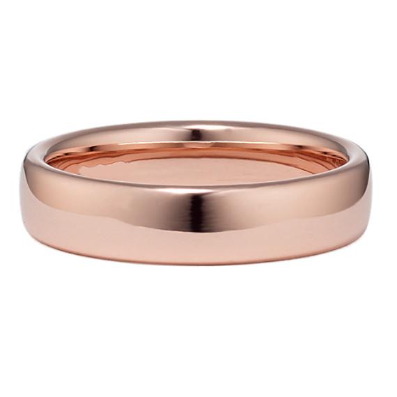 14k Rose Gold Euro Comfort Fit Ring (5.5mm)