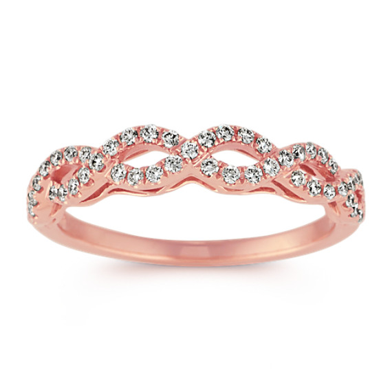 14k Rose Gold Infinity Diamond Band