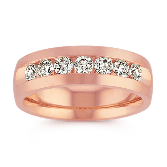 14k Rose Gold Round Diamond Ring (7mm)