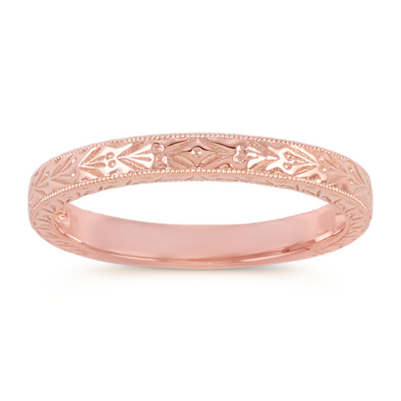 14k Rose Gold Vintage Wedding Band