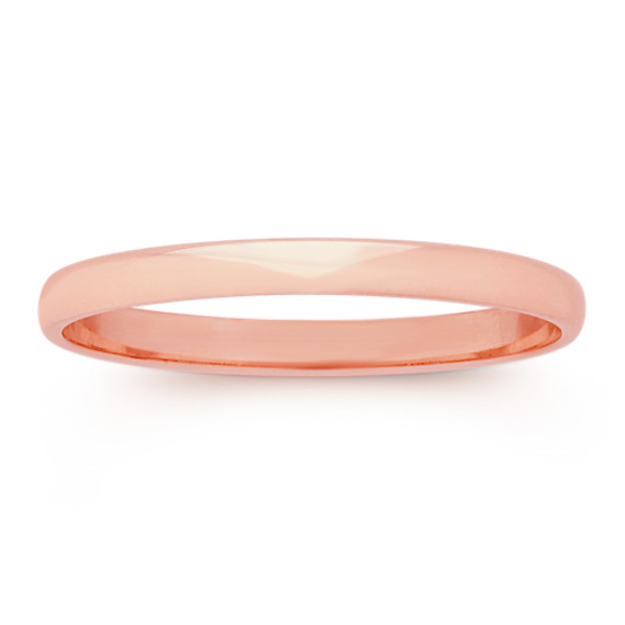 14k Rose Gold Wedding Band (2mm)