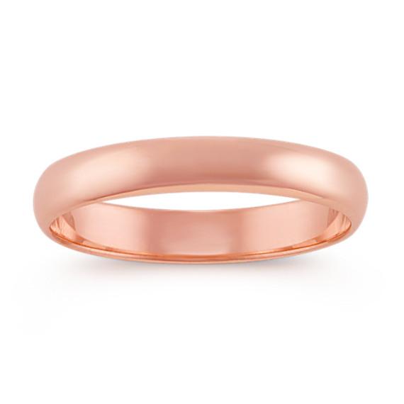 14k Rose Gold Wedding Band (3mm)