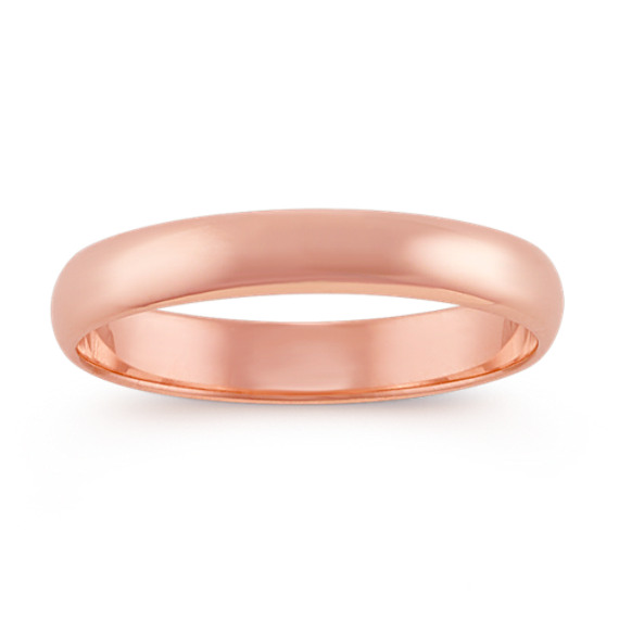 14k Rose Gold Wedding Band (3mm)