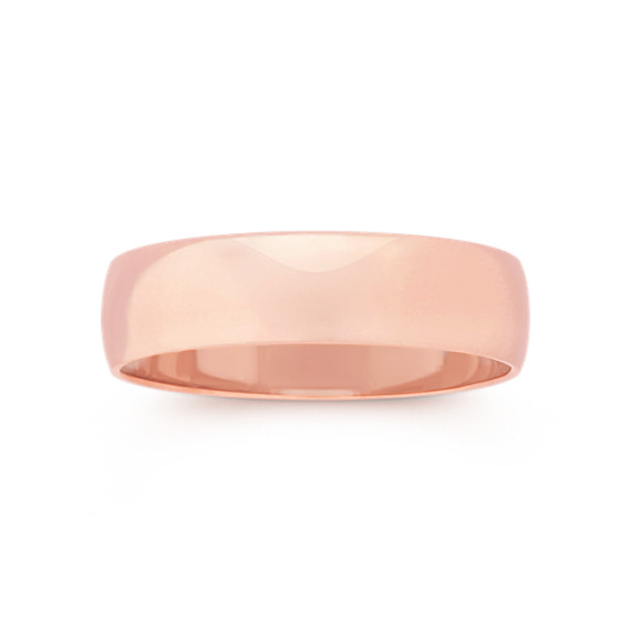 14k Rose Gold Wedding Band (5mm)