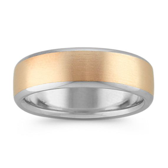 14k Two-Tone Euro Comfort Fit Ring (6.5 mm)