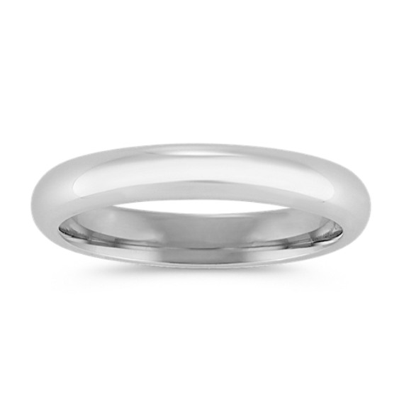 14k White Gold Comfort Fit Wedding Band (3mm)