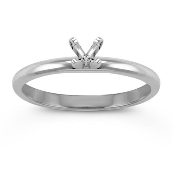 14k White Gold Engagement Ring image