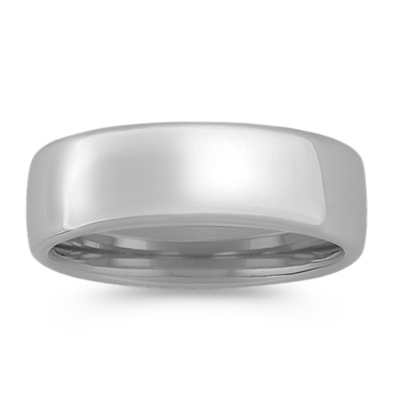 14k White Gold Euro Comfort Fit Ring (7.5mm)