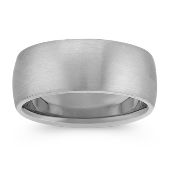 14k White Gold Euro Comfort Fit Ring (9mm)