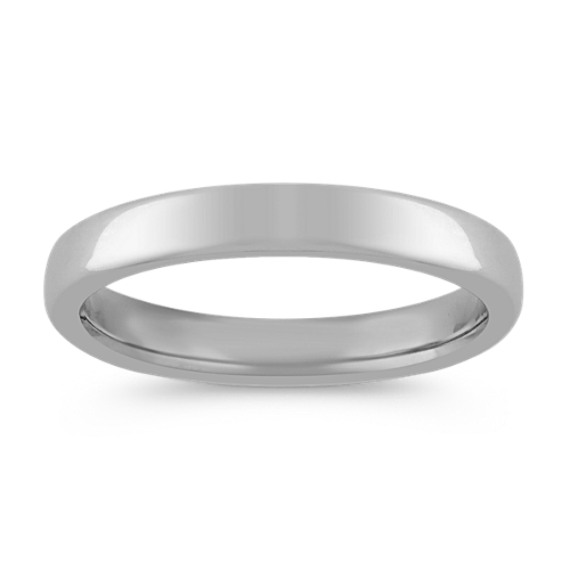 14k White Gold Euro Comfort Fit Wedding Band (3.5mm)