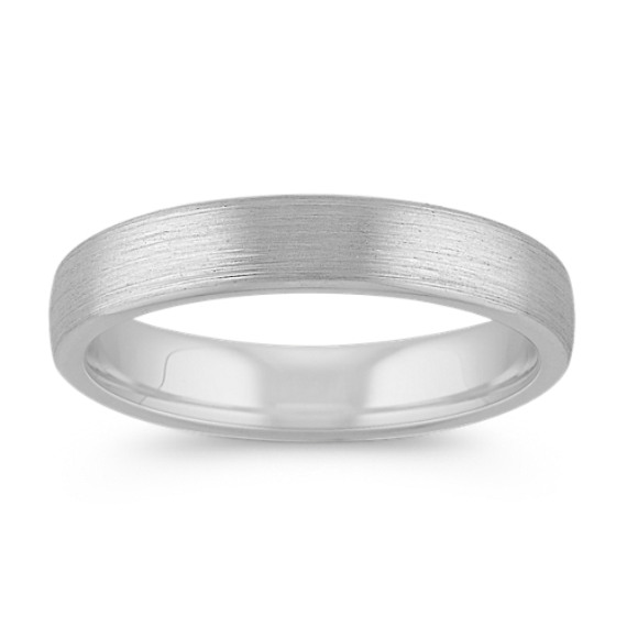 14k White Gold Euro Comfort Fit Wedding Band 4 5mm Shane Co
