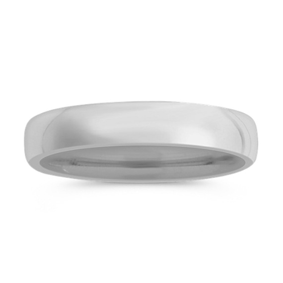 14k White Gold Euro Comfort Fit Wedding Band (5.5mm)