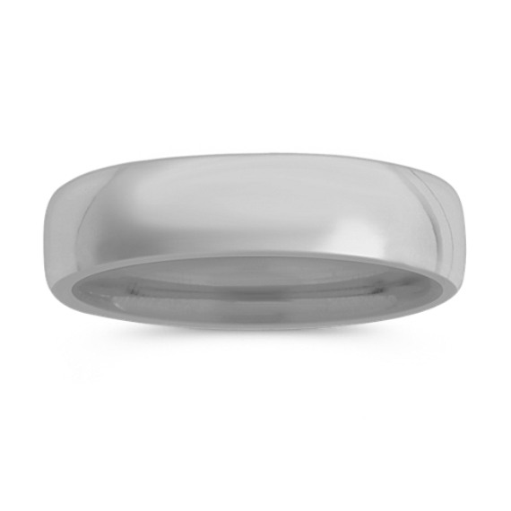 14k White Gold Euro Comfort Fit Wedding Band (6.5mm)