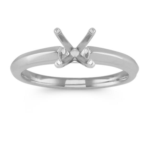 14k White Gold Knife Edge Engagement Ring