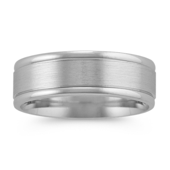 14k White Gold Mens Band (7mm)