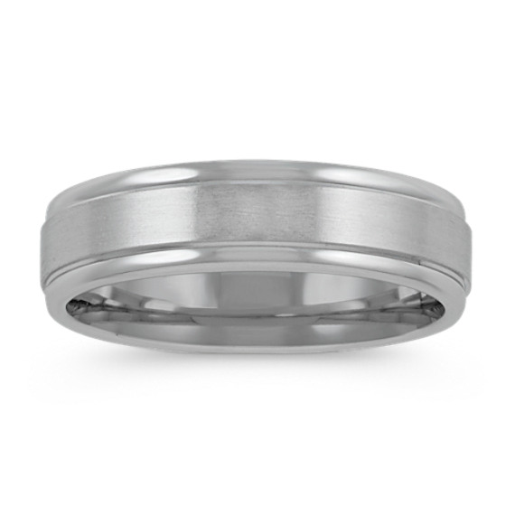 14k White Gold Ring with Satin Finish (6mm)