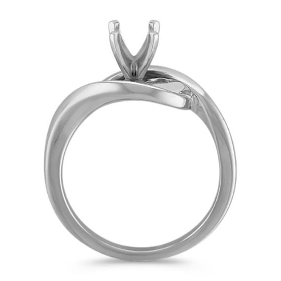 14k White Gold Swirl Ring image