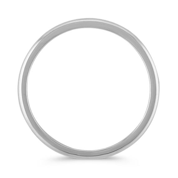 14k White Gold Wedding Band (1mm) image