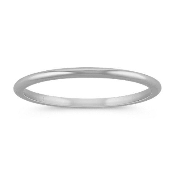 14k White Gold Wedding Band (1mm)