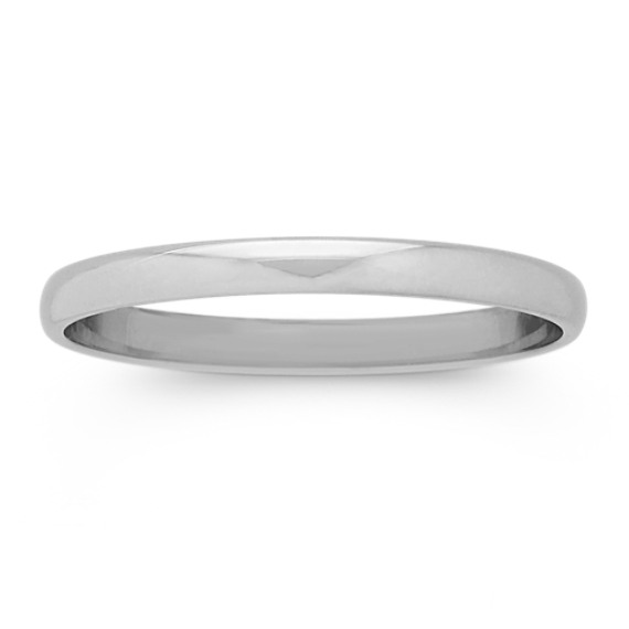 14k White Gold Wedding Band (2mm)