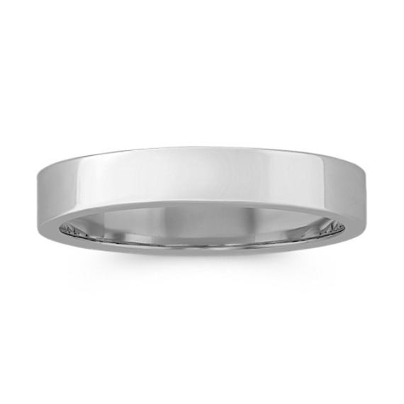 14k White Gold Wedding Band (4mm)