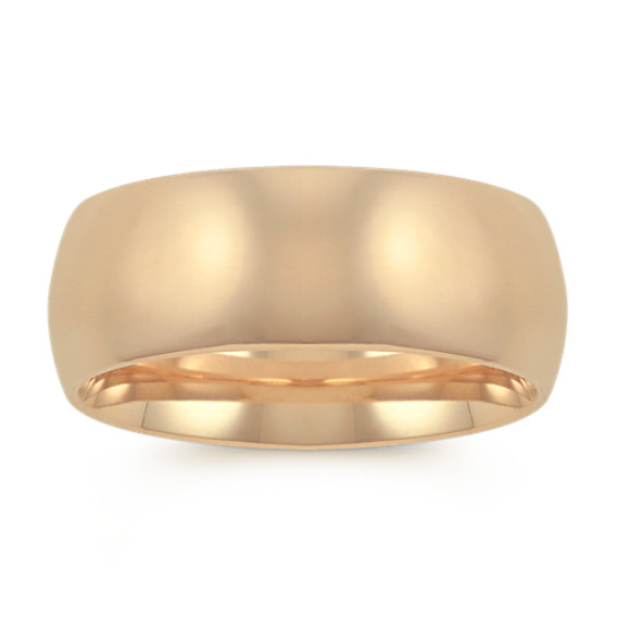 14k Yellow Gold Comfort Fit Wedding Band (8mm)