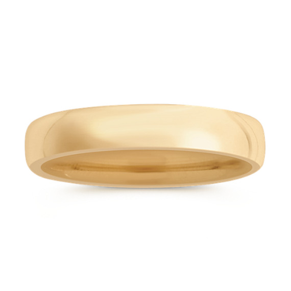 14k Yellow Gold Euro Comfort Fit Wedding Band (5.5mm)