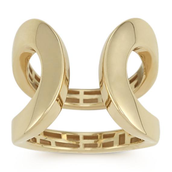 14k Yellow Gold Open Loop Ring