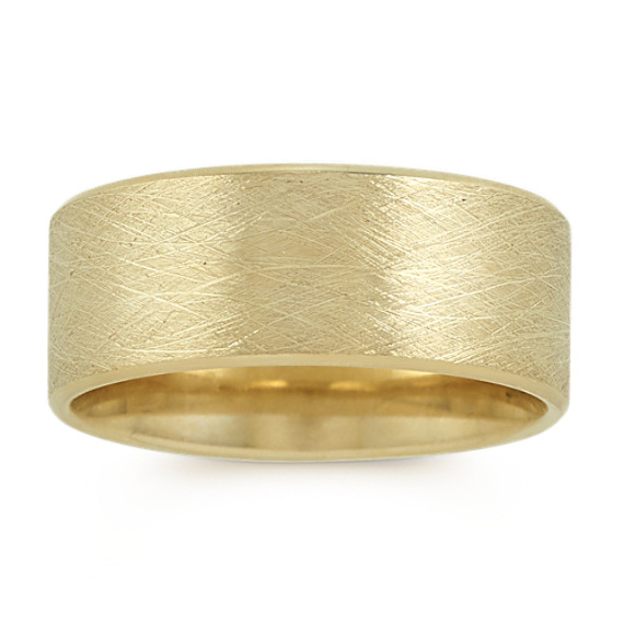 14k Yellow Gold Ring with Textured Finish (9mm)