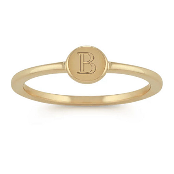 14k Yellow Gold Stackable Disc Ring