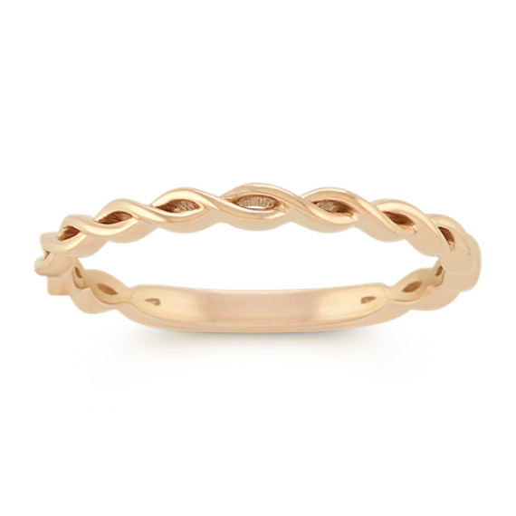 14k Yellow Gold Stackable Twist Ring