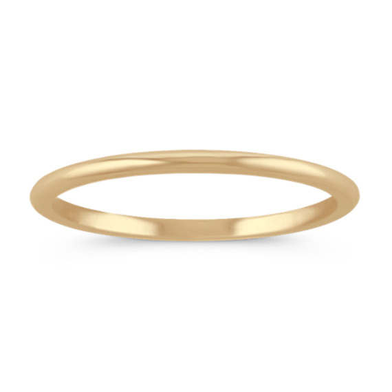 14k Yellow Gold Wedding Band (1mm)