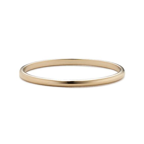 14k Yellow Gold Wedding Band (1mm)