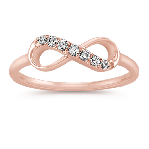 14k Yellow Gold Diamond Infinity Ring