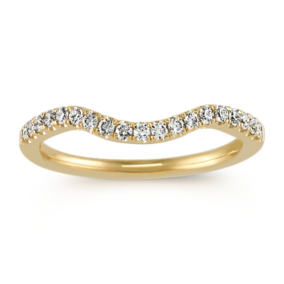 Diamond Contour Wedding Band in 14k yellow gold