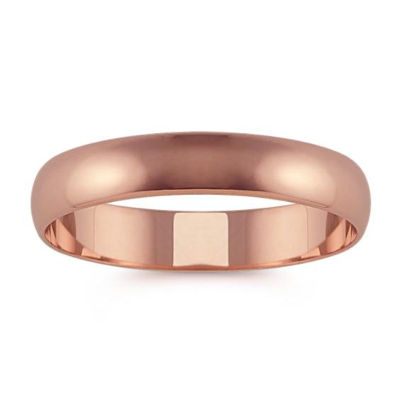 14k Rose Gold Wedding Band 4mm