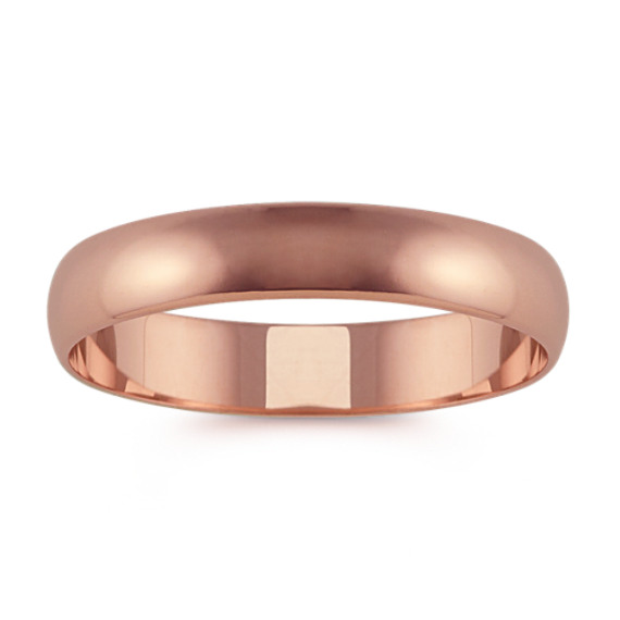 14k Rose Gold Wedding Band (4mm)