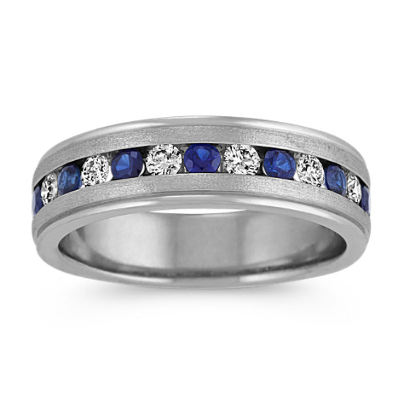 Round Traditional Sapphire and Diamond Ring