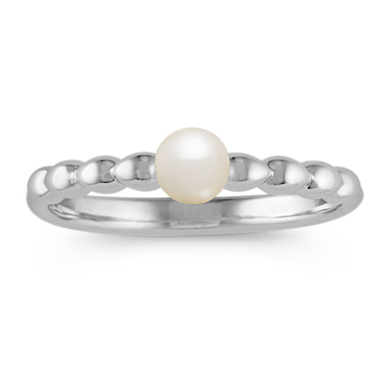 4mm Cultured Freshwater Pearl and Sterling Silver Ring