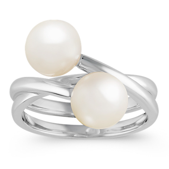 7.5mm Cultured Freshwater Pearl Ring in Sterling Silver