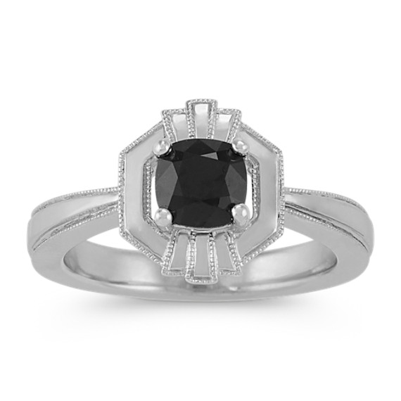 Art Deco Black Sapphire Ring