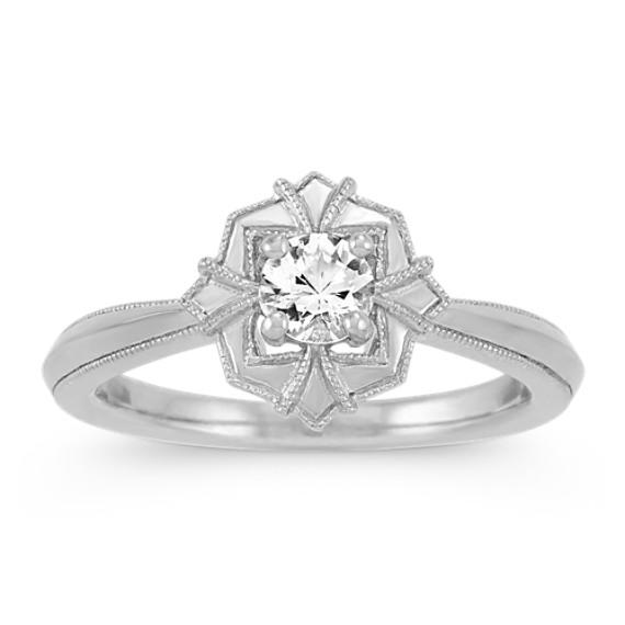 Art Deco White Sapphire Ring