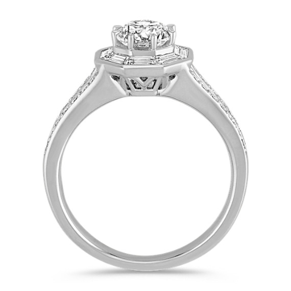 Baguette and Round Diamond Fashion Ring image