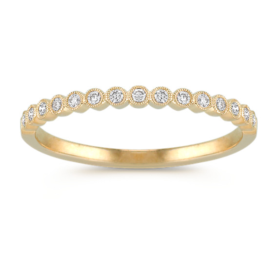 Bezel-Set Diamond Wedding Band