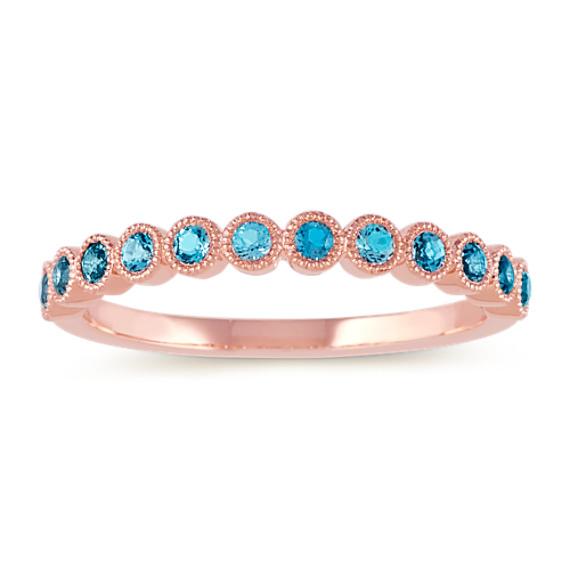 Bezel-Set London Blue Topaz Ring in 14k Rose Gold
