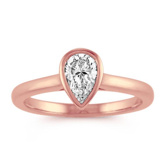 Bezel-Set Pear-Shaped Diamond Engagement Ring
