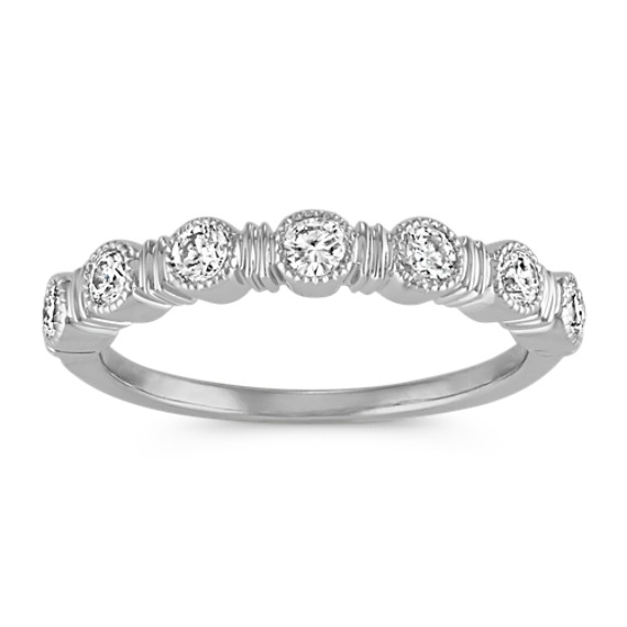 Bezel-Set Round Diamond Classic Stackable Band