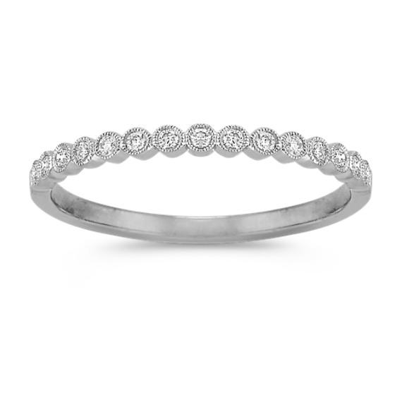 Bezel-Set Round Diamond Wedding Band in Platinum