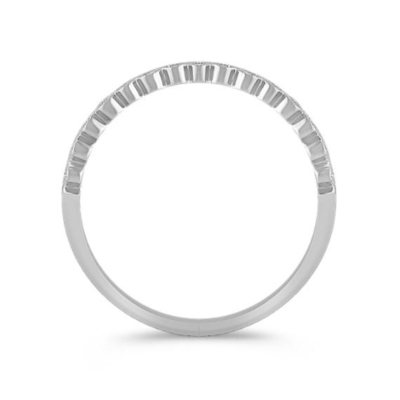 Bezel-Set Round Diamond Wedding Band image